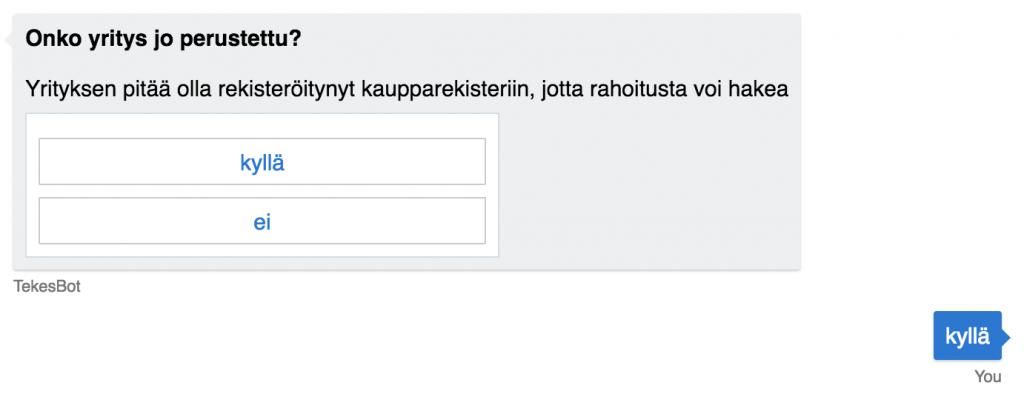 Mistä rahoitusta start upille? Business Finland chatbotti vastaa.
